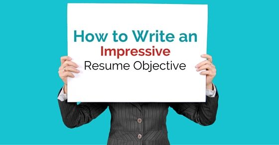how to write an objective statement