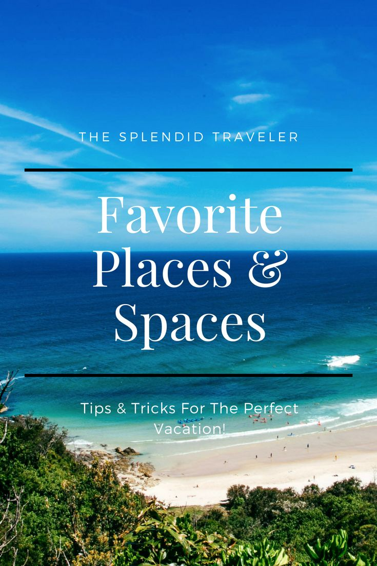 The Splendid Traveler's Favorite Places and Spaces.