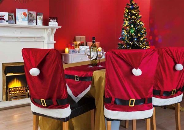 Шапка Деда Мороза на стул длинная