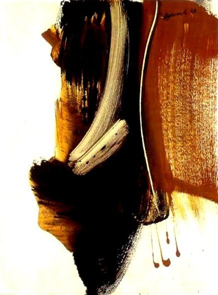 Peter Upward ~ Untitled, 1960 (PVA on board)