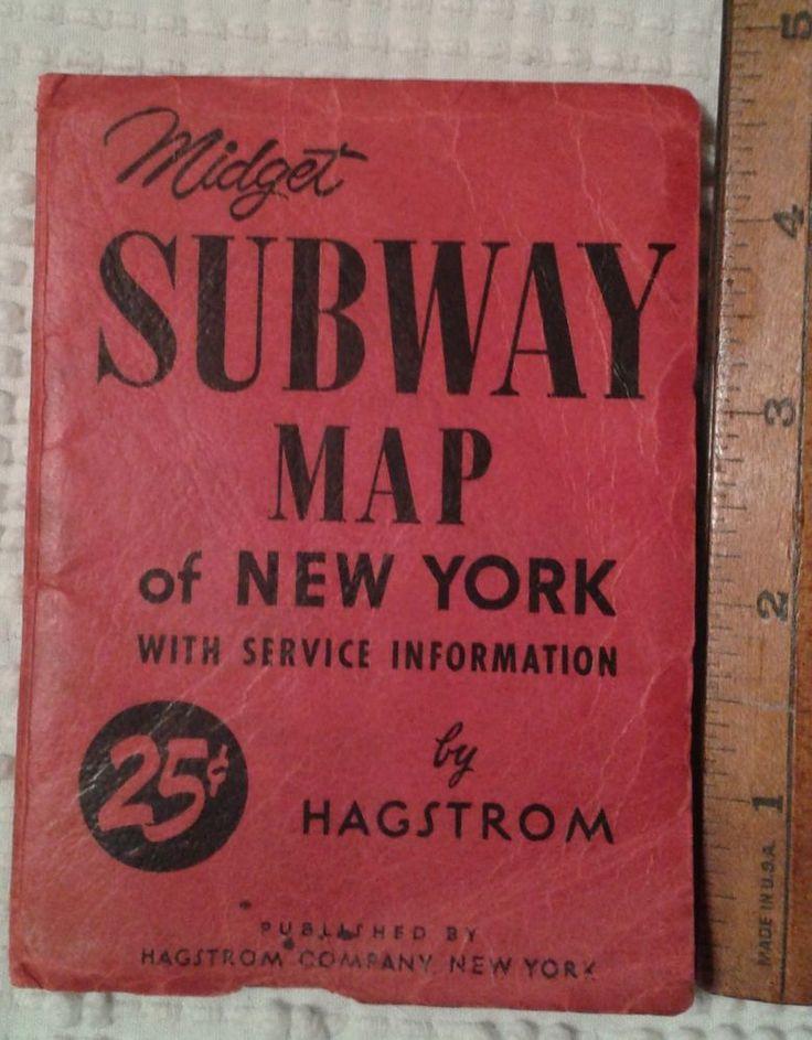 Midget SUBWAY MAP of NEW YORK NY