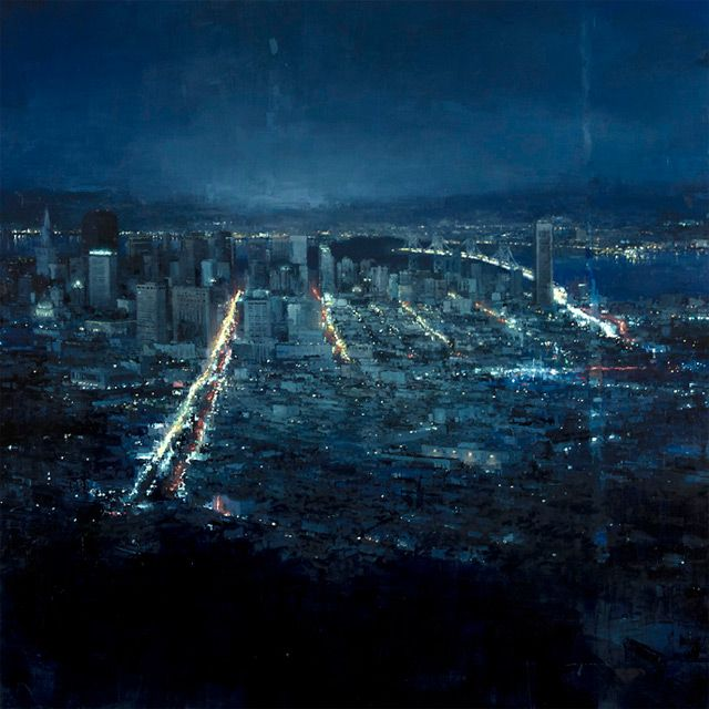 jeremy mann oils.  each and every one is lovely.  found on clossal.  SF artist.