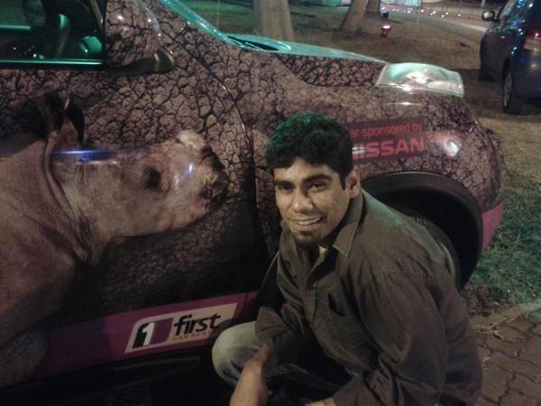 Abraham Kalloor strikes a pose... #Rhinos1st