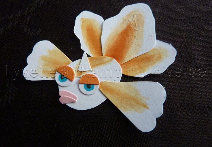 Gotta Craft Them All challenge dag 120: #Goldeen #Pokemon https://www.facebook.com/Lysettes.stampin.universe