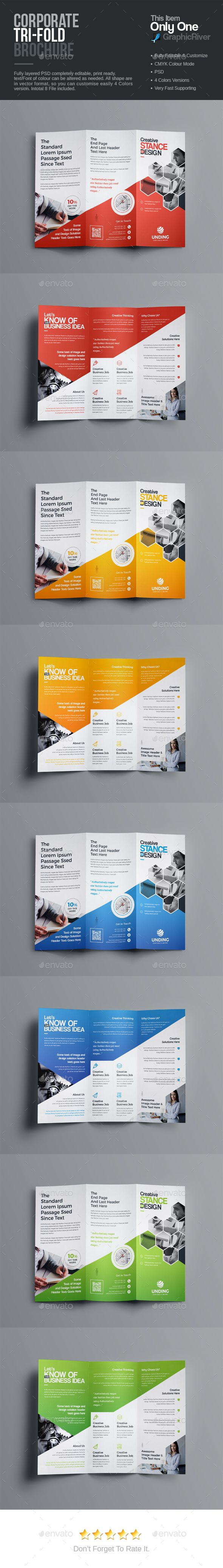 TriFold Brochure — Photoshop PSD #tables #User Interface & UI Elements • Available here → https://graphicriver.net/item/trifold-brochure/19564287?ref=pxcr