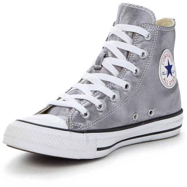 Converse Chuck Taylor All Star Seasonal Metallics Hi-Tops ($66) ❤ liked on Polyvore featuring shoes, sneakers, converse, zapatos, shoes - sneakers, fleece-lined shoes, high top shoes, star shoes, hi tops and high-top sneakers