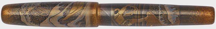 Maki-e sterling silver fountain pen #pelikan, #maki-e, #fountain pen, #18k Gold nib, #18k Gold, #gold,