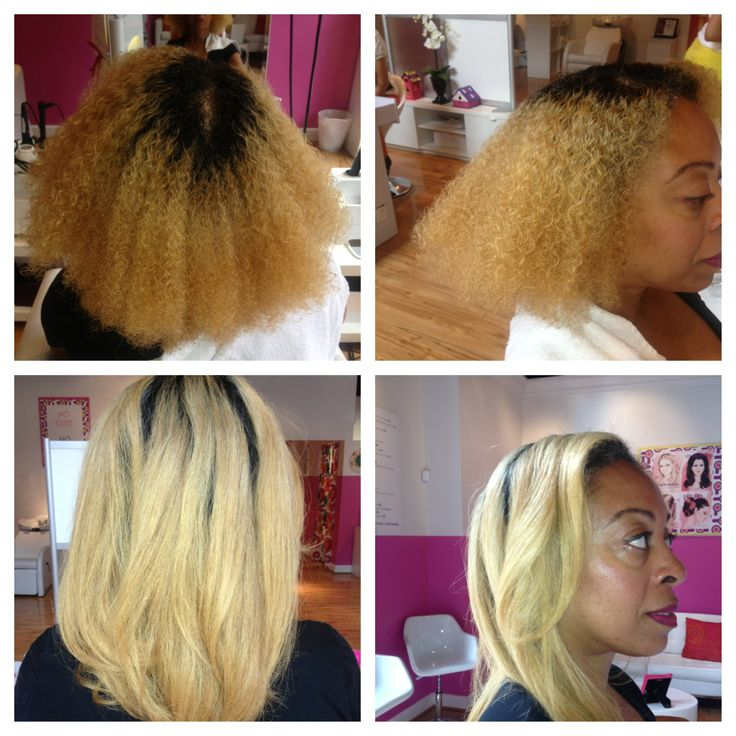 Use This Oil Before Coloring Your Hair: A FLOW Before And After: Natural Hair Was Blown And Ironed