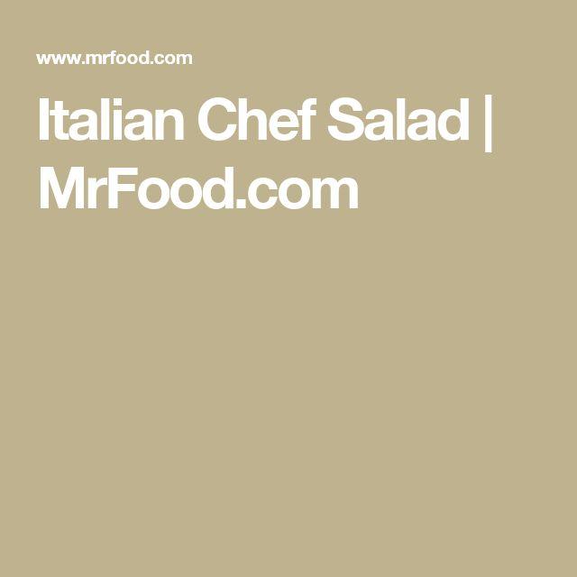 Italian Chef Salad | MrFood.com