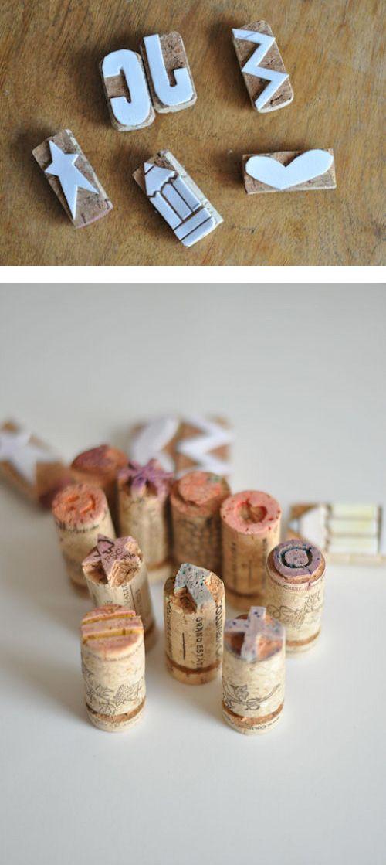 Become creative with wine cork:)