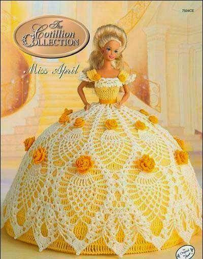 Patrones de vestidos crochet para Barbie   Todo crochet