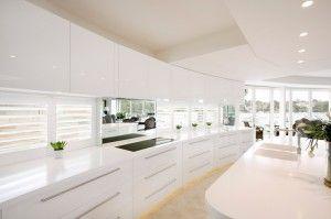 White & clean kitchen design by Dean Welsh