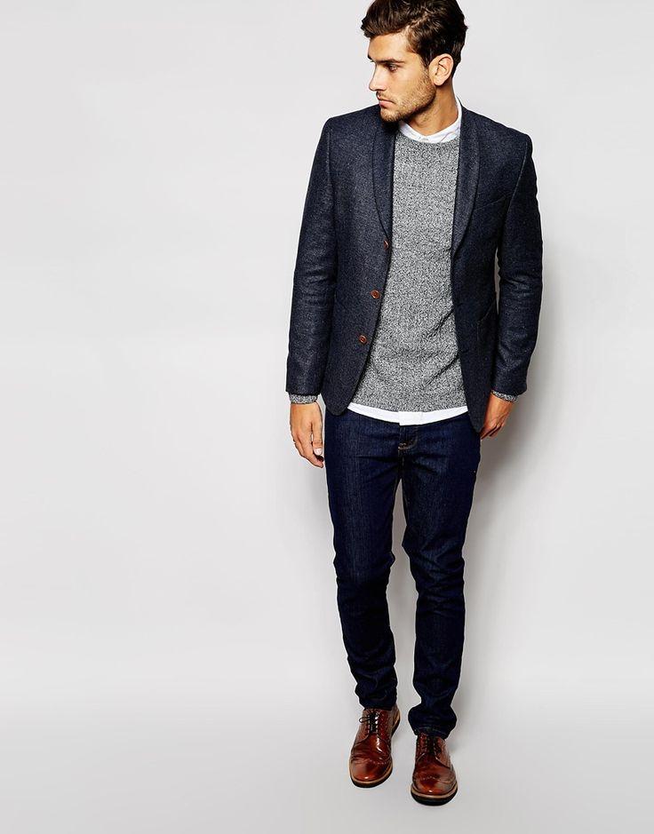 ASOS Slim Fit Blazer In Tweed #menswear #fashion #style