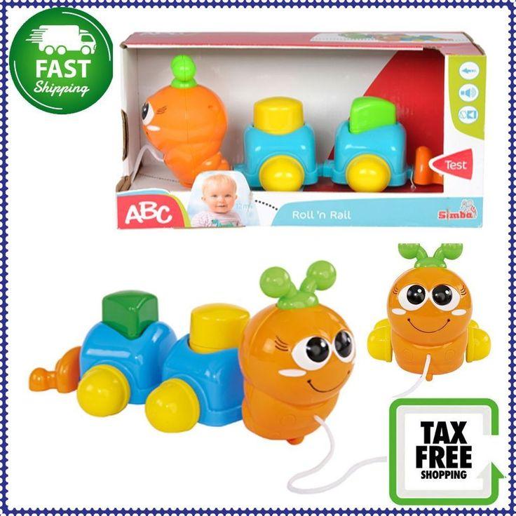 Simba Toys ABC Roll'N Rail Pull-Along Sorting Game Orange Caterpillar NEW!! #SimbaToys