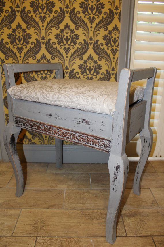Up cycled Vintage Piano stool / dressing table stool                                                                                                                                                      More