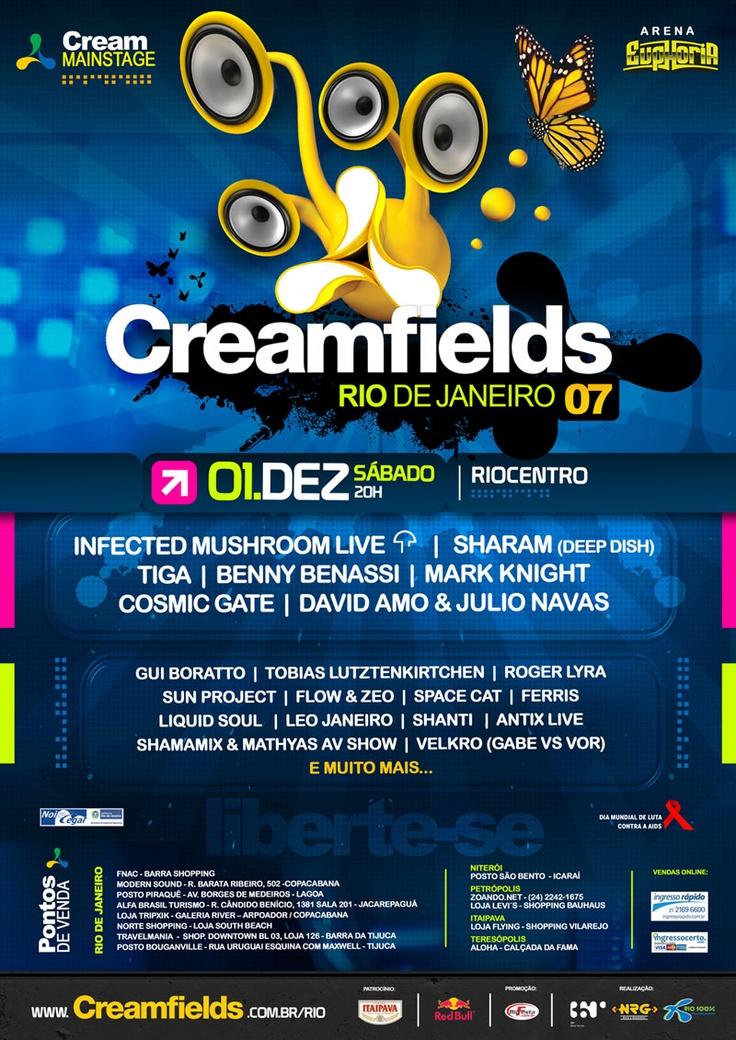 Flyer Creamfields 2007 @ Rio de Janeiro,
