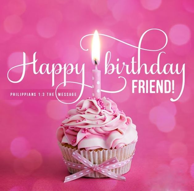20 Heart Touching Birthday Wishes For Friend: Happy Birthday Bible Verse And Cupcake Pink