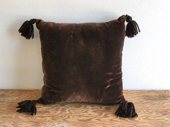 Chocolate Velvet Pillow 70 S Solid