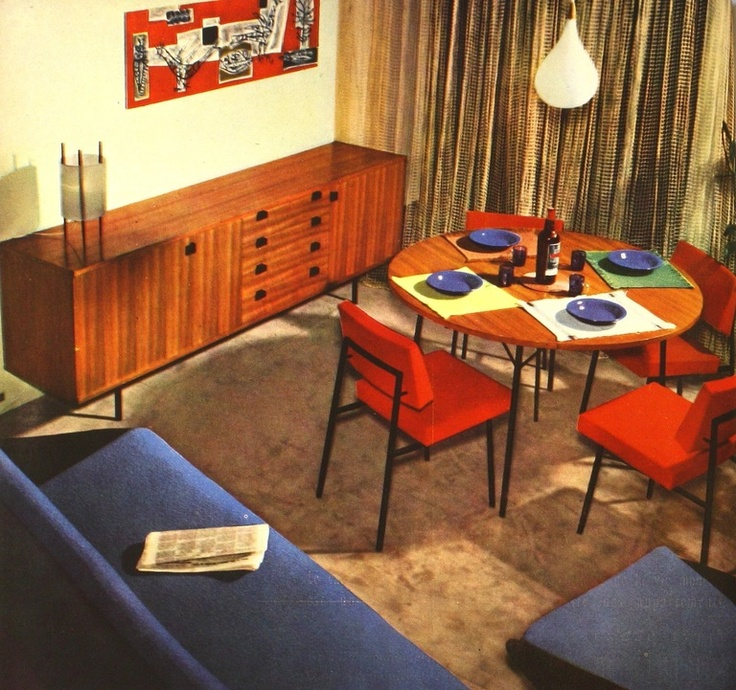 2 Sideboards By Alain Richard Edited Meubles TV Circa 1954 Image 10 Design HistoryFurniture StorageVintage InteriorsDining RoomsMid CenturyCollage