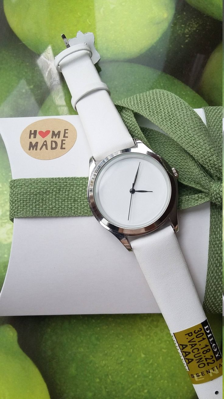 Minimalist White Watch with White Dial, Unique Fashion Watch, Women's Jewellery, Handmade Watch, Girlfriend Gift, Romantic Gift. by IrishFashionWatches on Etsy