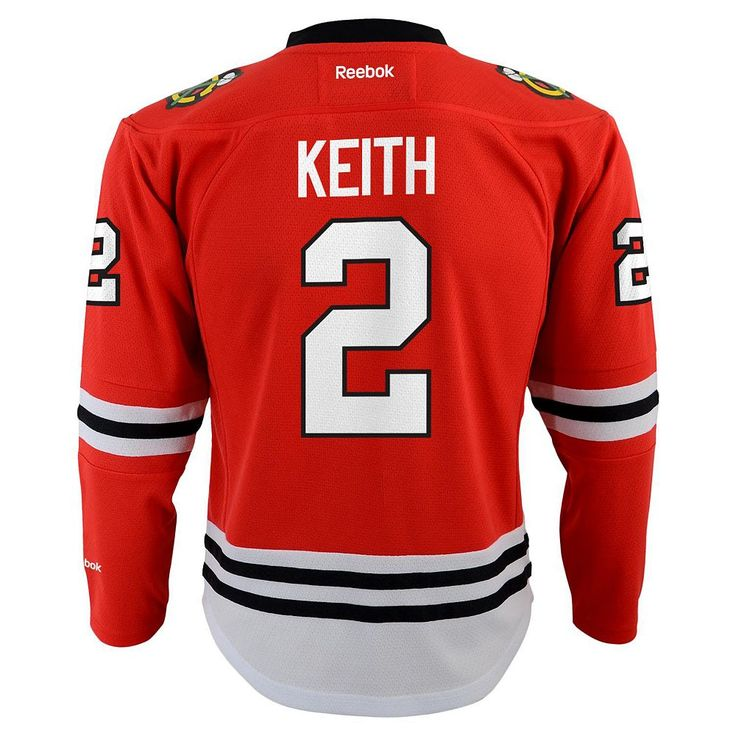 Boys 8-20 Chicago Blackhawks Duncan Keith NHL Jersey, Size: L-Xl, Red