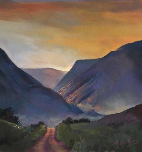 Margaret Evans, Above Clova Mists, Pastel | Scottish Contemporary Art