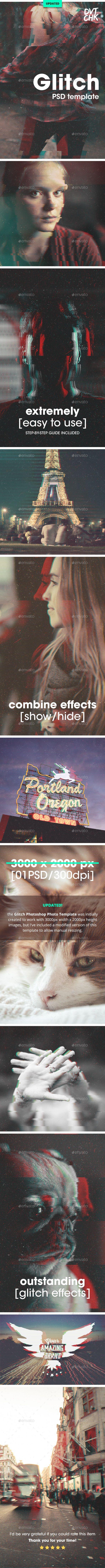 Glitch Photoshop Photo Template – Tech / Futuristic Photo Templates