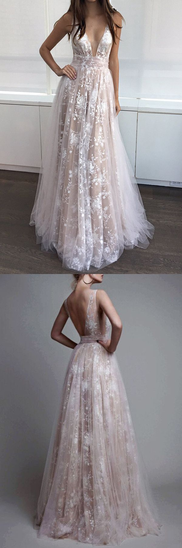 champagne long prom party dresses , deep v-neck lace prom party gowns, cheap champagne evening gowns, vestidos, 2017 prom party dresses
