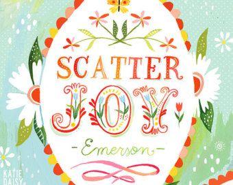 Large Format - Scatter Joy    veritcal print