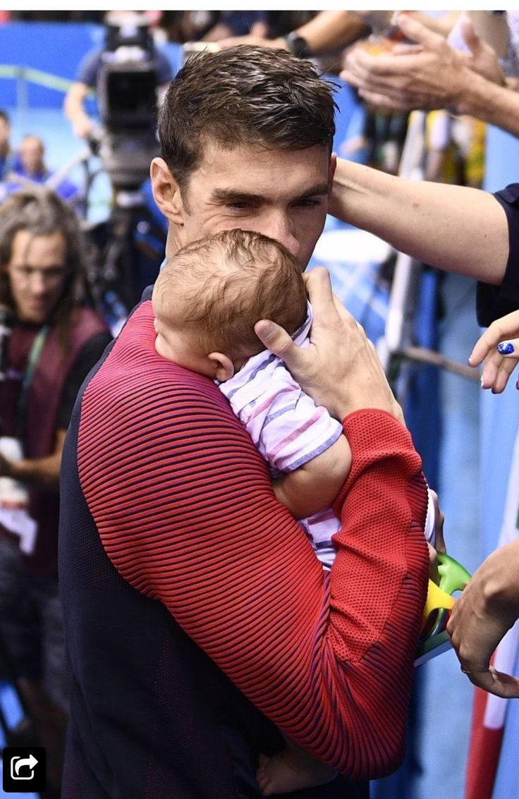 Michael Phelps and son Boomer