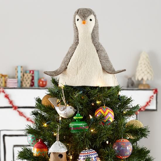 There are no words! I must have this!!!!!! Penguin Tree Topper in ...