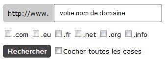Outil pour rechercher un nom de domaine disponible