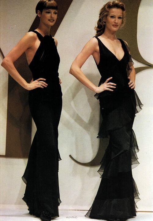 Valentino A/W 1993/'94 -- Linda Evangelista & Karen Mulder
