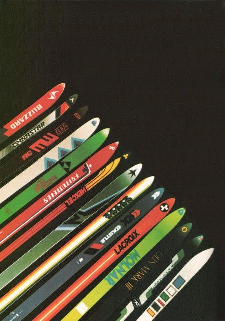 vintage ski ads
