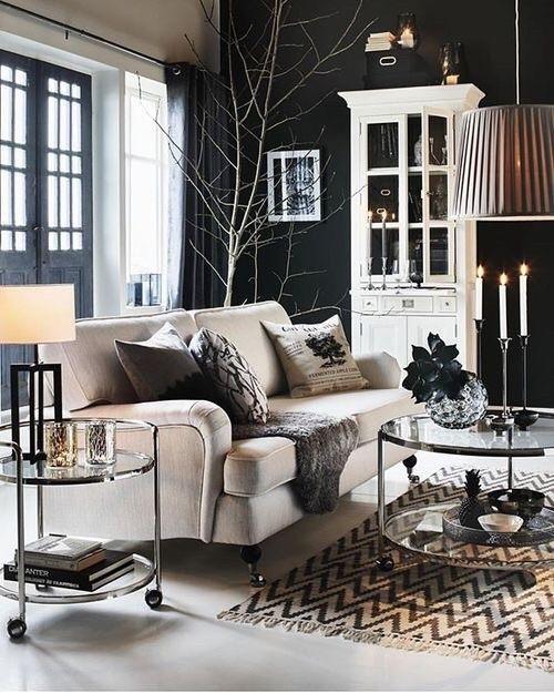 Wohnzimmer Modern Und Antik. die besten 25+ schwarzes sofa ideen ...