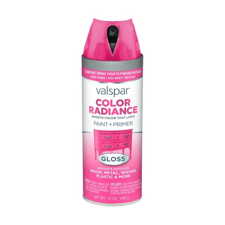 Valspar Color Radiance Passion Pink Fade Resistant Enamel Spray Paint (Actual Net Contents: 12-oz)
