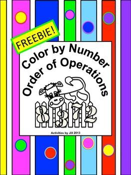 Color by number lessons can be a fun change of pace for students and may be used for practice, as a review, as a math center, or as an assignment choice for differentiation of lessons. Notice: All calculations in this puzzle involve positive numbers. If you are interested in order of operations problems with negatives, please check my store for an activity very similar to this one! CCSS 5.A CCSS 6.EE CCSS 7.EE