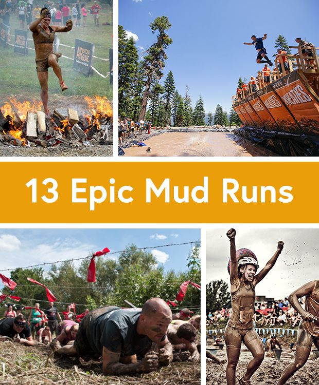 Mud isn't my favorite, but I'm willing to get down and dirty every once in a while. Looking for the best obstacle race. 13 Awesomely Epic Mud Runs #fitness #fun
