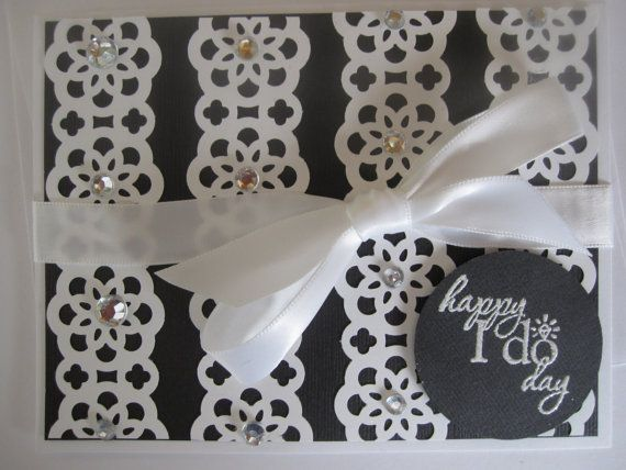 Stampin' Up Wedding Greeting Card Black Lace by ConroysCorner