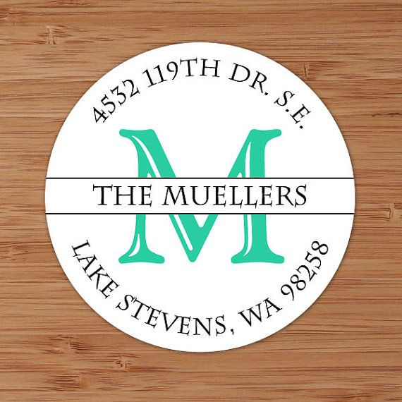 Simple Initial - Custom Personalized Address Labels or Stickers by PoshGirlBoutique