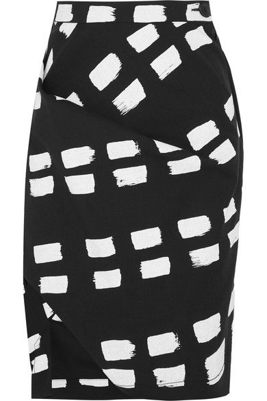 Vivienne Westwood Anglomania - Accident Printed Stretch-cotton Twill Skirt - Black - IT42