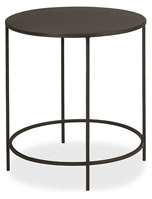 Slim Round End Tables in Natural Steel - End Tables - Living - Room & Board