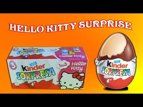 kinder surprise eggs hello kitty Unboxing