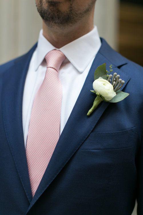 #Fab Flora Chicago Christy Tyler Photography, Ranunculus, Silver Brunia, Groom, Boutonniere, Lapel Love, Pastel Wedding, Summer Wedding, Wedding Flowers, Chicago Florist.