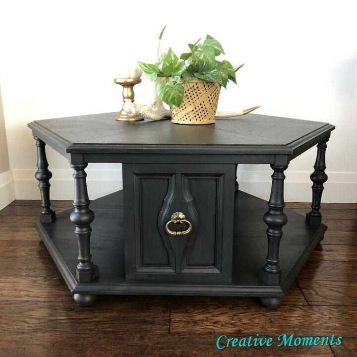 Charcoal geometric coffee table in 2020 coffee table