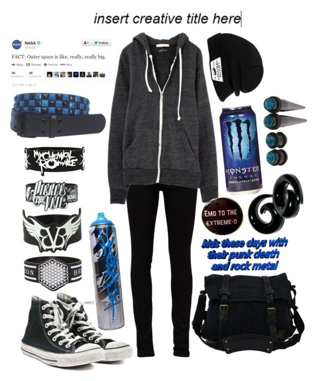"""Untitled #75"" by moriartywasreal ❤ liked on Polyvore featuring Yves Saint Laurent, Converse, Belstaff and Vans"