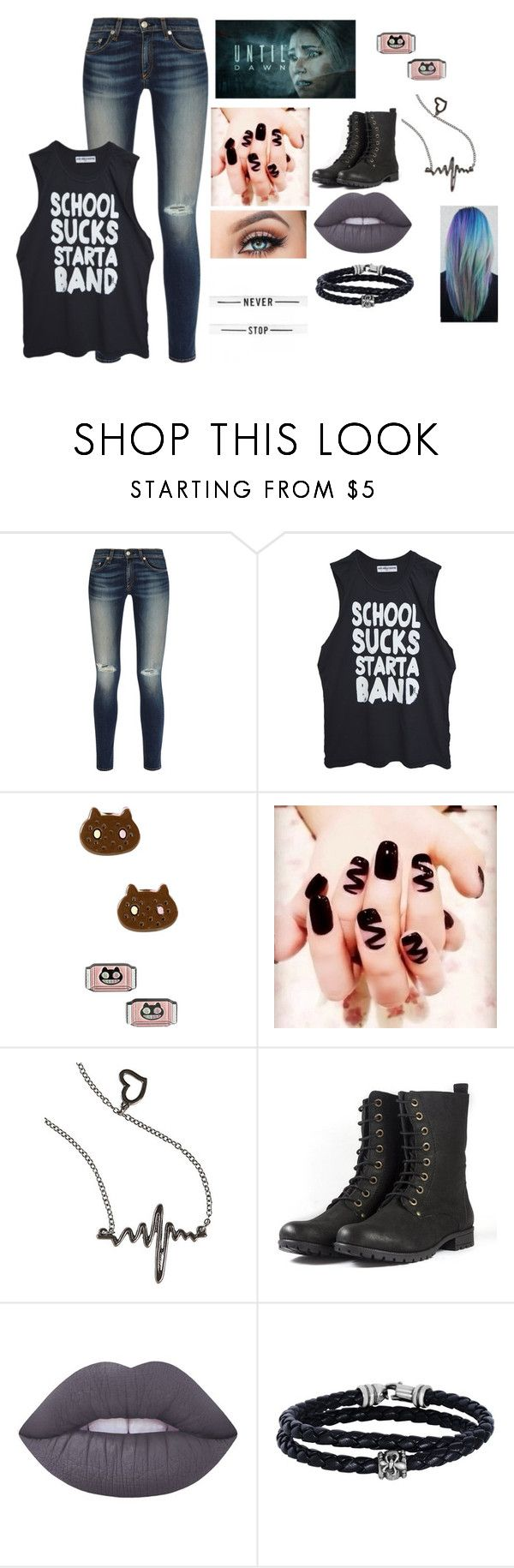 """Jaiden Smith #2"" by maya-fischbach on Polyvore featuring rag & bone, High Heels Suicide, Cartoon Network, Lime Crime and Phillip Gavriel"