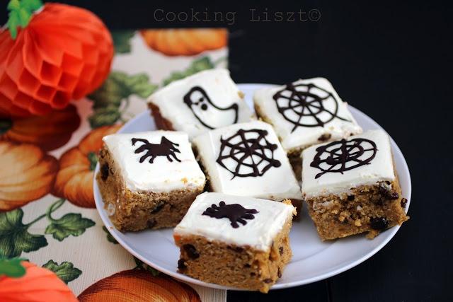 Halloween pumpkin squares (Rachel Allen recipe)