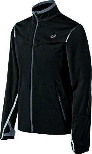 Asics Men's Accelerate Jacket, Black, Medium. 360 degree reflectivity. Waterproof zipper with protective wind panel and zipper garage. Strategically designed ventilation with welded hems. Our ASICS Accelerate Jacket is the running jacket that all others aspire to be. Lightweight and breathable, this waterproof and windproof 2-layer stretch fabric offers full weather protection. Fully seam sealed. It's fully weather protected thanks to 10K/10K waterproof/windproof stretch fabric;...
