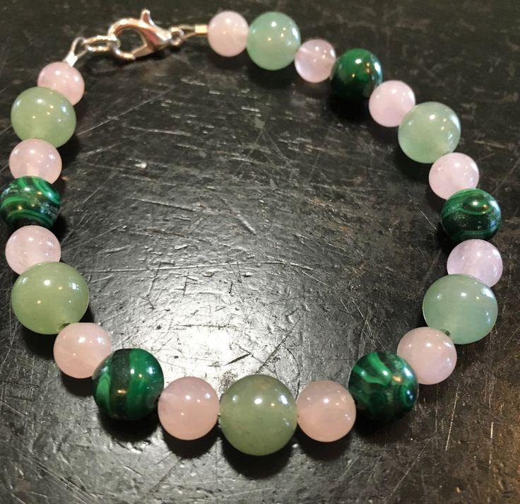 Heart Chakra Bracelet (Green Aventurine, Malachite and Rose Quartz)